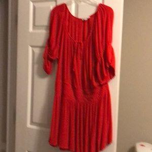 Hot Orange Maxi dress